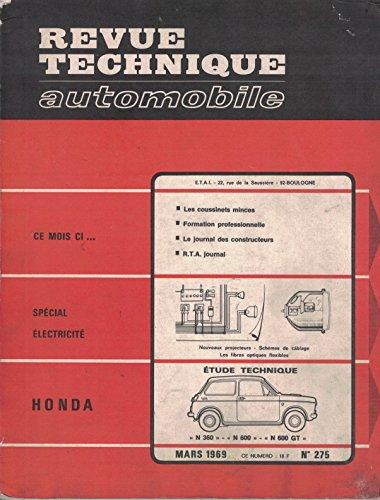 Revue Technique Automobile N° 275 : Honda N 360, N 600, N 600 G