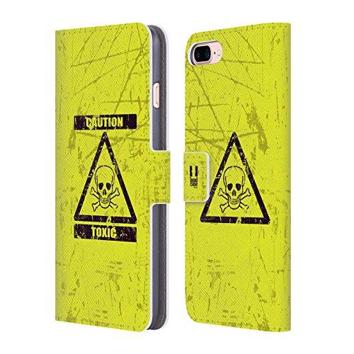Head Case Designs Marienkäfer Muster Verschiedene Designs Brieftasche Handyhülle aus Leder für Apple iPhone 5 / 5s / SE Toxisch