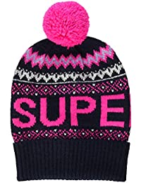Superdry Oslo Fashion Beanie Cagoule, Bleu (Navy 11s), OS (Taille Fabricant:OS) Femme