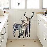 YWLINK Elk Sala De Estar Dormitorio Impermeable ProteccióN del Medio Ambiente Etiqueta De La Pared Cristal De La Ventana ElectrodoméSticos De Cocina Apliques