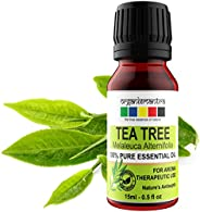 Organix Mantra Tea Tree Essential Oils for Skin, Hair, Face, Acne Care, 100% Pure, Natural and Undiluted Thera