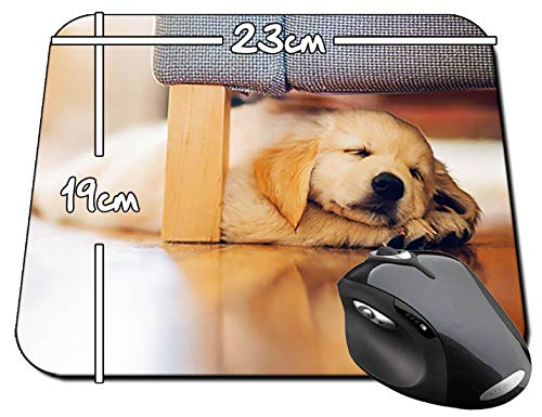 Golden Retriver Durmiendo Dog Sleeping Below Bed Mauspad Mousepad PC