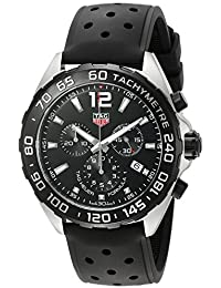 TAG Heuer Herren-Armbanduhr 43mm Armband Kautschuk Gehäuse Edelstahl Schweizer Quarz CAZ1010.FT8024