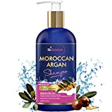 St.Botanica Moroccan Argan Hair Shampoo 300ml - No SLS / Paraben - With Argan Oil, Silk Protein, Almond Oil, Rosemary, Jojoba Oil, Green Tea & B5