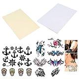 BENECREAT 10 Pack Bricolage A4 Temporaire Tatouage Transfert Papier Imprimable Personnalisé Halloween Tatouages