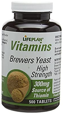 Lifeplan High Strength Brewers Yeast 300mg 500 Tablets by Lifeplan