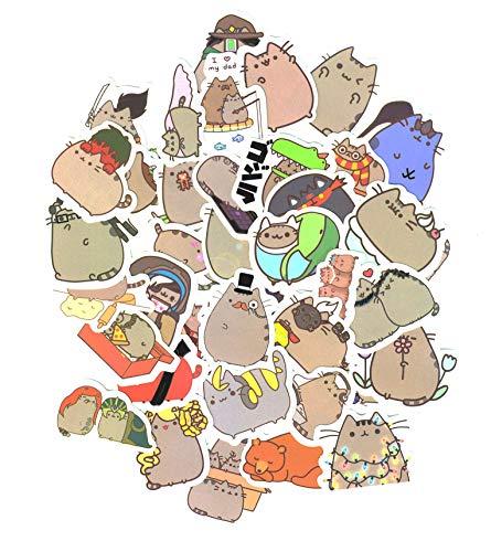 ⭐Top Aufkleber! ⭐ Set von 101 süße Katze Aufkleber Premium Qualität - Vinyls Stickers Nicht Vulgär - Fashion, Stil, Bombe, Graffiti - Anpassung Laptop, Gepäck, Motorrad, Fahrrad, Skateboard