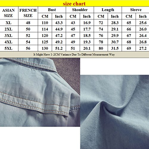 Zhuhaitf doux Mens High Quality Soft Denim Jacket Outerwear Casual Tops Plus Size blue