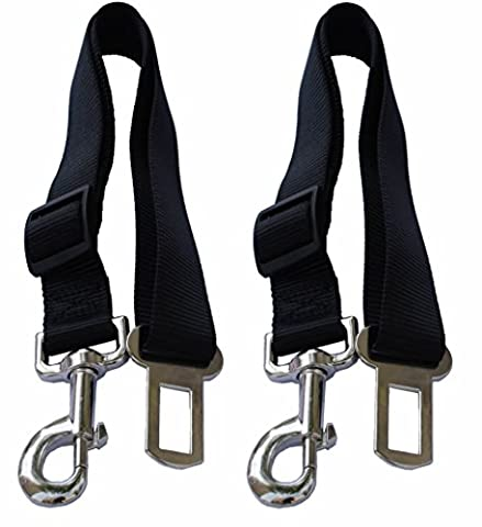 Attache de ceinture de sécurité ceinture de sécurité pour chien Noir Pet Clip, Lot de 2