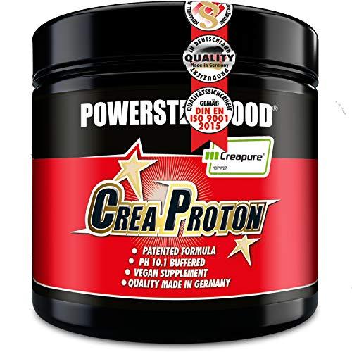 CREAPROTON - Stärkster Kraftbooster - Premium Kre-Alkalyn (CreaTrona®) - Hochwertigstes Creapure® - Für mehr Maximalkraft, Ausdauer und Muskelwachstum - 210 Kapseln - MADE IN GERMANY