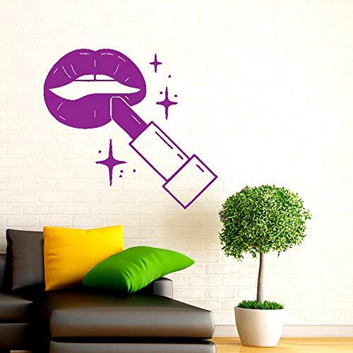 Salone di bellezza Adesivi murali in vinile Moda Cosmetici Decalcomania rimovibile Soggiorno Decorazione camera da letto Art Poster 114 * 124cm
