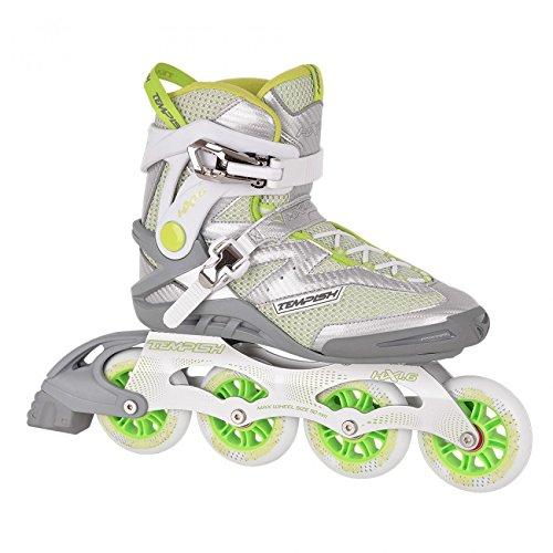 Unbekannt Tempish HX 1.6 84 / HX 1.6 90 Inline Skates + Ultrapower Beutelrucksack | Sport | Outdoor | Roller | Rollerskates | Rollschuhe, Tempish Größe:39, Tempish Farbe:HX 1.6 90mm Green/Gray -