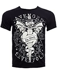 Avenged Sevenfold Official Cloak and Dagger T Shirt (Black)