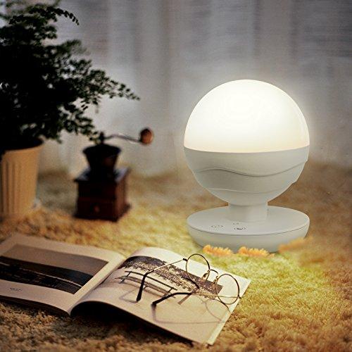 Preisvergleich Produktbild Ascher Dimmbar Mehrfunktional LED Tischleuchte Nachtlampe Nachtlicht Nacht Tischlampe tragbar aufladbar stufenlos für Indoor & Outdoor (CCT 2700K - 6500K Dimmbar, Built-in 2200 mAh Batterie)