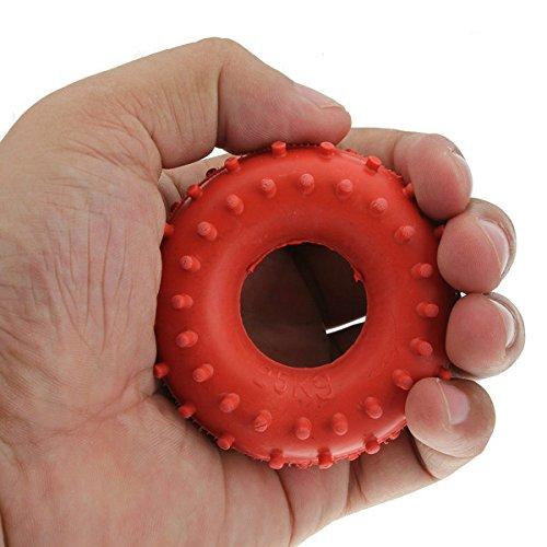 Preisvergleich Produktbild Tuto New 25 Kg Gummi Ring Grip Hand Greifer Gerät Stärke Rot
