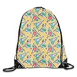 Drawstring Backpack Bags Maui Pop Hula Honey Yellow Sport Athletic Gym Sackpack for Men Women