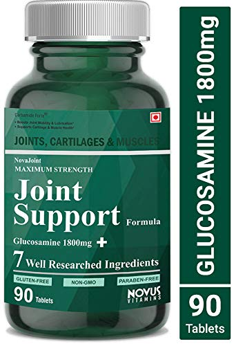 Carbamide Forte Joint Support Supplement with Glucosamine 1800mg,  Chondroitin 450mg, MSM 1005mg, Boswellia 150mg & 4 Ingredients Per Serving  | Joint