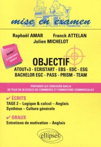 Objectif : Atout+3, Ecristart, EBS, EDC, ESG, Bachelor EGC, PASS, PRISM, TEAM