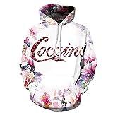 Unisex Cocaine mit Kapuze Sweatshirt 3D Gedruckt Schnell Trocken Sweat Shirt Langarm Hoodie Taschen Top WY-79