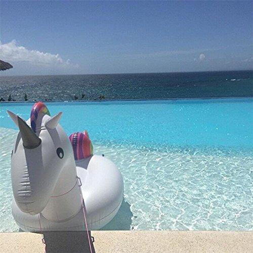 Pool schwimmen Spielzeug Einhorn Aufblasbare Unicorn Pool Float Riesen Schwimmbad Raft für Erwachsene & Kids Inflates und Deflates Fast von Mingmei Eur - 7