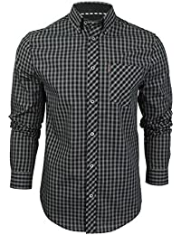 Ben Sherman - Camisa casual - Cuadrados - Clásico - Manga Larga - para hombre
