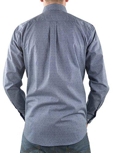 Fynch Hatton Hemd blau gemustert Blau