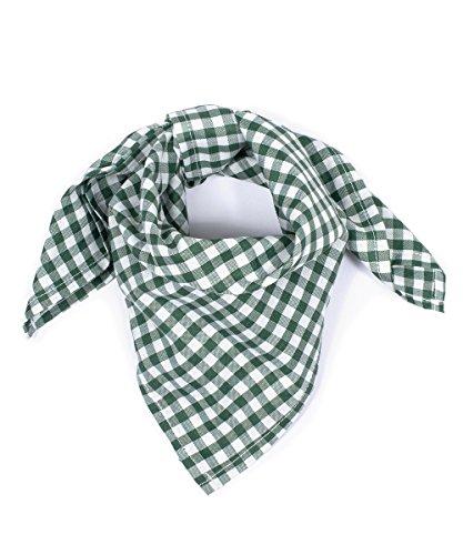 Tracht & Pracht - Herren Baumwolle - Trachtentuch Nickituch Karo - Grün