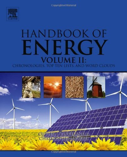 Handbook of Energy: Chronologies, Top Ten Lists, and Word Clouds 1st edition by Cleveland, Cutler J., Morris, Christopher G. (2013) Hardcover par Cutler J., Morris, Christopher G. Cleveland
