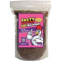 Tasty Worms gusanos secos y congelados, 226 gr aproximadamente8.000ct