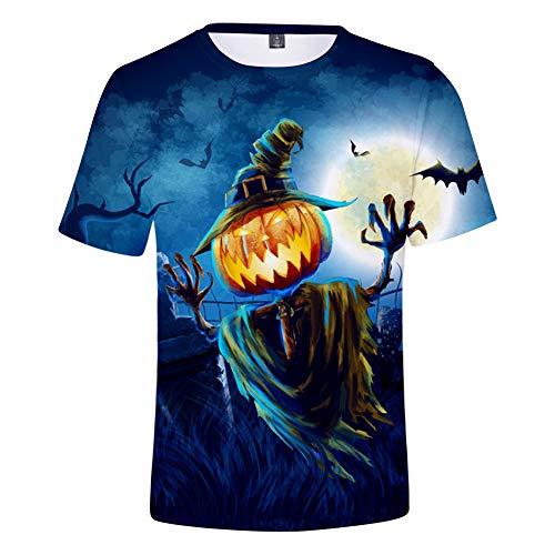 3D T-Shirt Unisex HD Gedrucktes Rundhalsausschnitt Lässig Mit Print Kurzarm Top Halloween XS