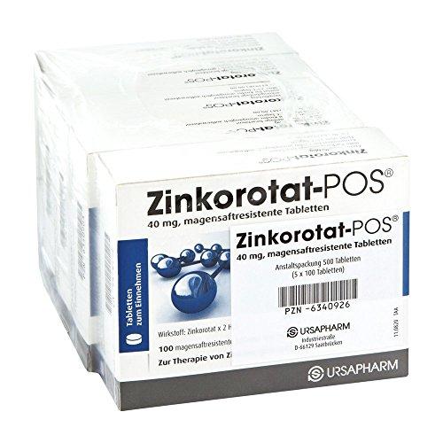 Zinkorotat-POS 40 mg, 500 St. Tabletten