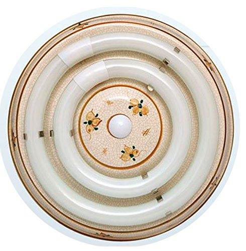 107/54/S/MA - Plafón cerámica circular marrón, Reactancia ELECTRÓNICA, SIN TUBOS - 22 + 32W