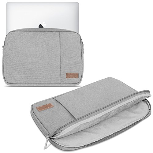 Laptop Schutz Tasche Schwarz Notebook Schutzhülle Ultrabook Macbook Tablet Cover Case, Notebook:TrekStor SurfTab twin 11.6;Farbe:Grau