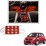 Vheelocityin 9 LED Custom Cuttable Car Red Light for Interior/Exterior for Maruti Suzuki Swift New