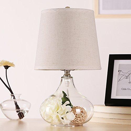 YYHAOGE Die Wohn - Und Schlafzimmer Mit Lampe Dekoration Lampe Europäischen Stil Blume Lampe (Licht),Grau - Weiß Tischlampe Nachttischlampe Schreibtischlampe (Licht Grau Oxford)