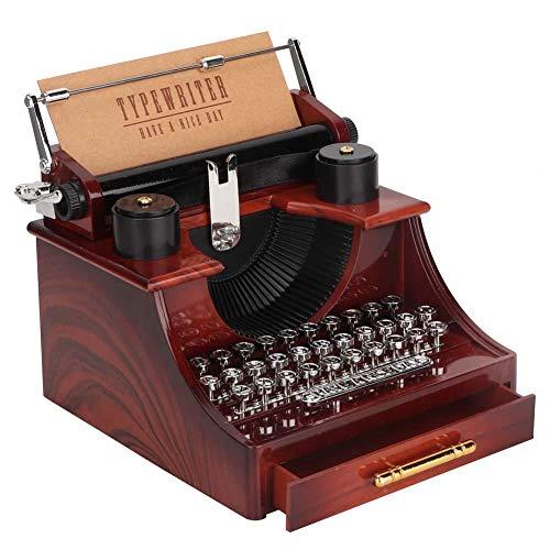 dynamische Schreibmaschinen-Spieluhr Mini Art Craft Schreibtischdekoration als Geburtstags Kinder ()