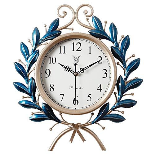 NLJLN Olivgrün-Uhruhrwanduhr der amerikanischen Retro- kreativen Mode der Grafik amerikanische Moderne minimalistische Hauptwohnzimmerpersönlichkeitsquarzuhr
