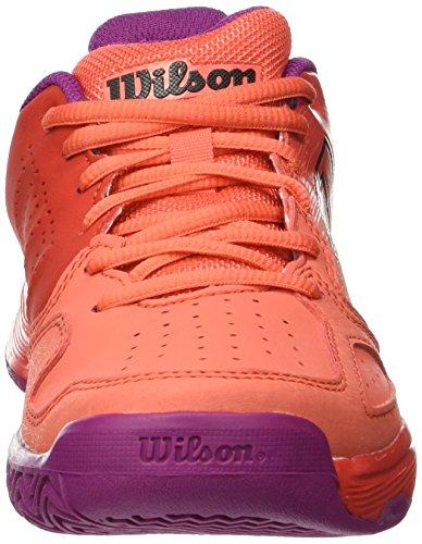 Wilson Kaos Comp Jr Radiant.r/Coral Punc/Pk, Scarpe da Tennis Unisex – Bambini Rosso (Radiant Red/Black/Radiant Red)