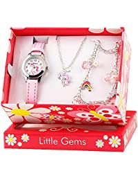 RAVEL Unicorn 'Little Gems' Quartz Watch and Silver Plated Jewellery Gift Set