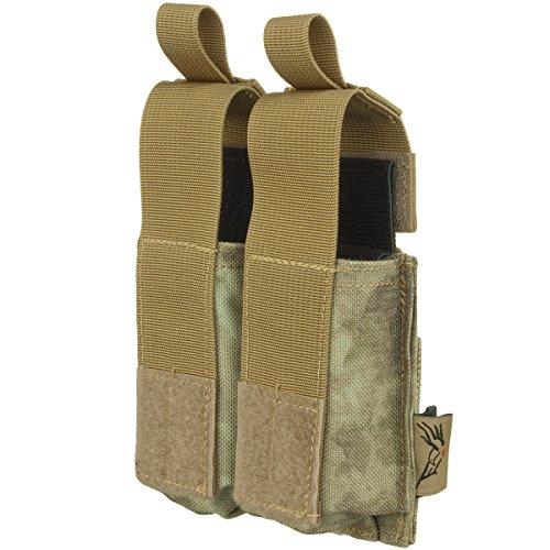 FLYYE Doppel 9mm Pistole Magazintasche Ver. HP MOLLE A-TACS AU (Magazintasche Doppel-9mm)