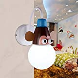 DSHBB Lámpara De Estilo Animal, Lámpara De Pared Moderna Creativa, Lámpara De Noche Lámpara De Pasillo Lámpara De Lámpara De Pasillo, para Dormitorio, Habitación Infantil Decorativa E27 (Color : Do)