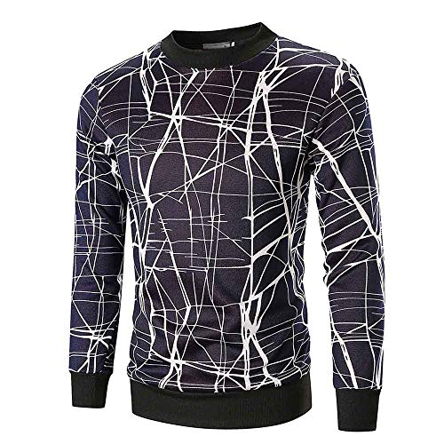 Btruely Pullover Herren Große Größe Kapuzenpullover Printed Outwear Männer Sweatshirt Runhals...