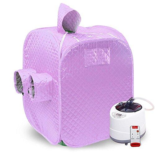 Tragbare Saunen für Zuhause Tragbare Falten Sauna Dampf Box Outdoor Sauna 2 Personen Single Detox Sweat Box (Lila) , purple (Outdoor-infrarot-sauna)