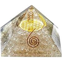Crocon Bergkristall Klar Energetische Pyramide mit Kristall Point Metall Blume des Lebens Edelstein Energie Generator... preisvergleich bei billige-tabletten.eu