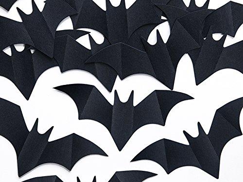 SiDeSo® Konfetti Streudeko Halloween Grusel Kürbis Geister Fledermaus (10 Stück Schwarze Fledermaus)