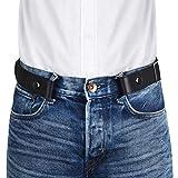 VBIGER Cintura Senza Fibbia per Uomo Donna Cintura Elastica Invisibile per Jeans 120cm Larghezza 1.4'Adatta da 30' -48'