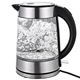 Transparente Glas Wasserkocher 1.7L Temperaturregelung 2200 Watt Edelstahl - Best Reviews Guide