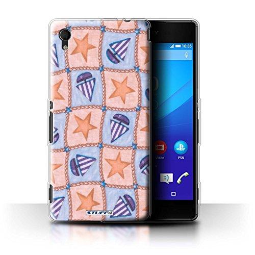 stuff4-phone-case-cubierta-piel-sxpm4aq-gc-barco-patron-de-estrellas-de-collection-peach-purple