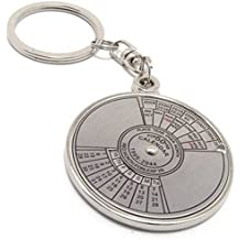 50 Years Calender Silver Keychain