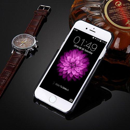Pour iPhone 6 Plus / 6s Plus Huile Peau Texture Broderie Leopard Pattern PU Coller Skin PC Cas de protection JING ( SKU : IP6P7801B ) IP6P7801D